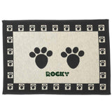 "Dibsies Personalized Tapestry Extra Large Pet Food Mat - Paw Prints - 28"" x 18"""