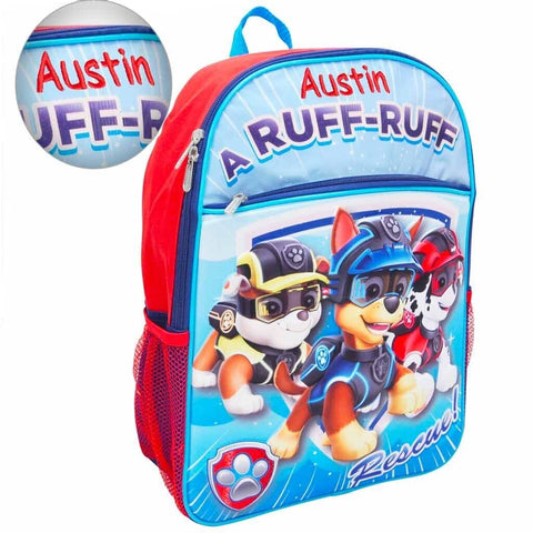 Personalized Paw Patrol 3D Molded Backpack - 16 Inch