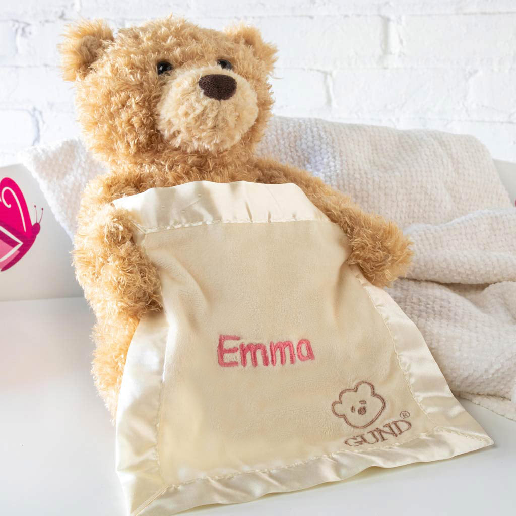 e2a31f42ed3 Personalized Gund Peek a Boo Bear
