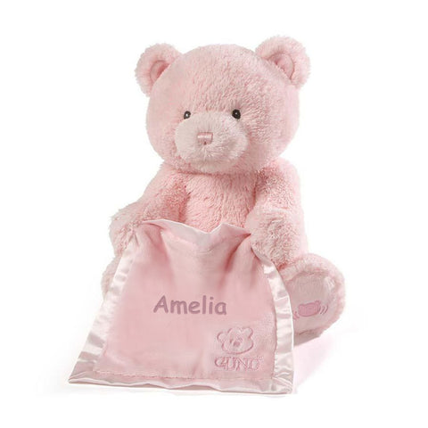 Personalized Gund Peek a Boo Bear - Pink