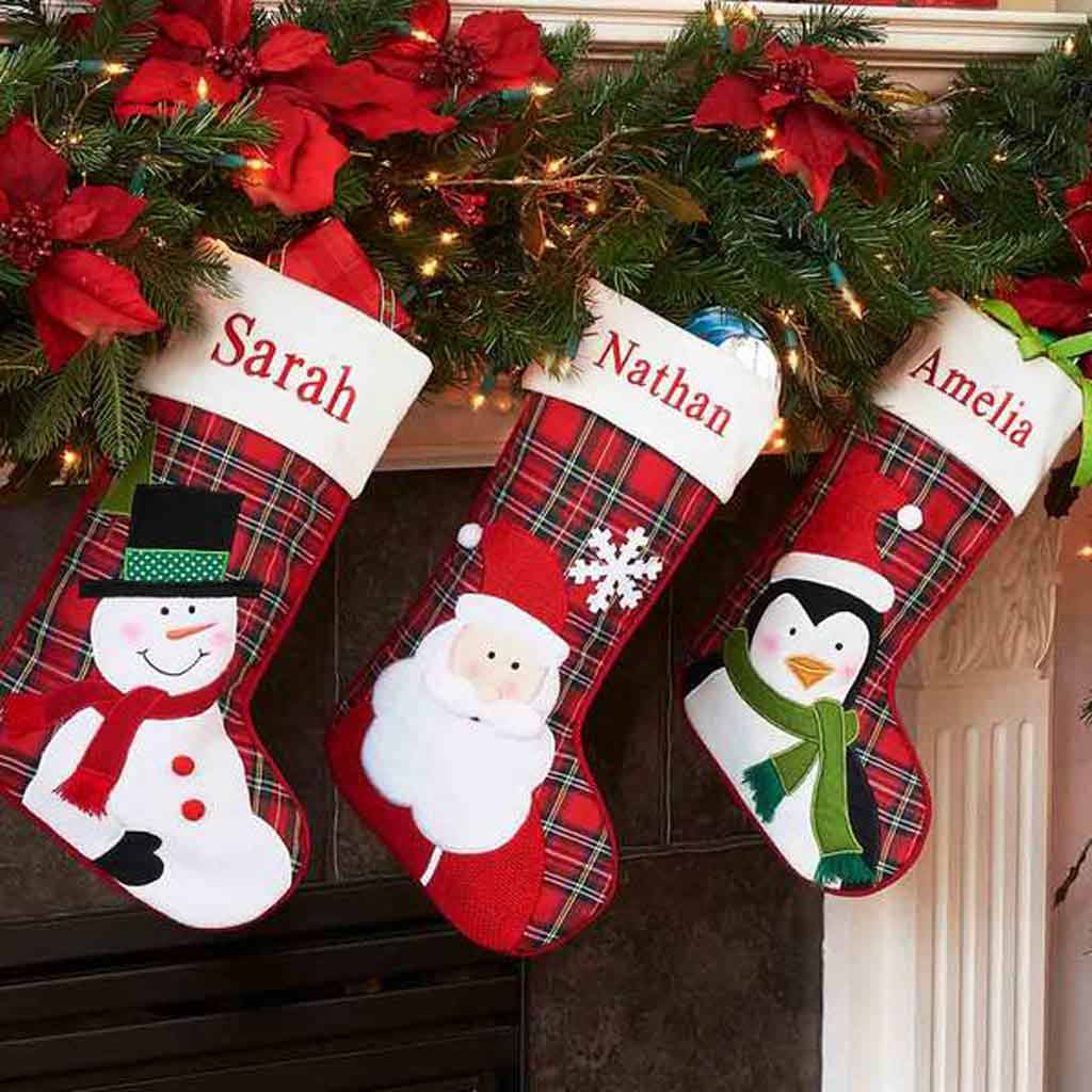personalized plaid christmas stocking - Plaid Christmas Stockings