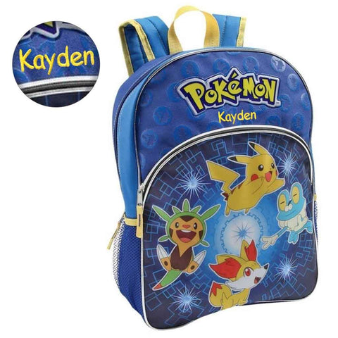 Personalized Pokemon Pikachu and Friends Backpack - 16 Inch