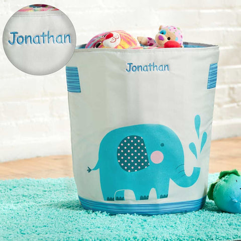 Personalized Dibsies Hamper and Storage Tote for Babies & Kids - Elephant