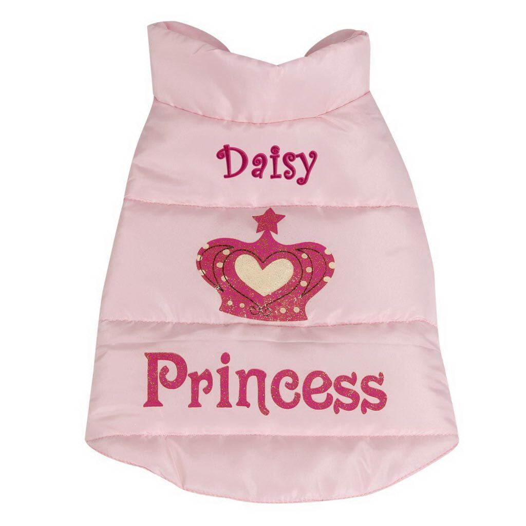 Personalized Princess Dog Coat - Extra Small