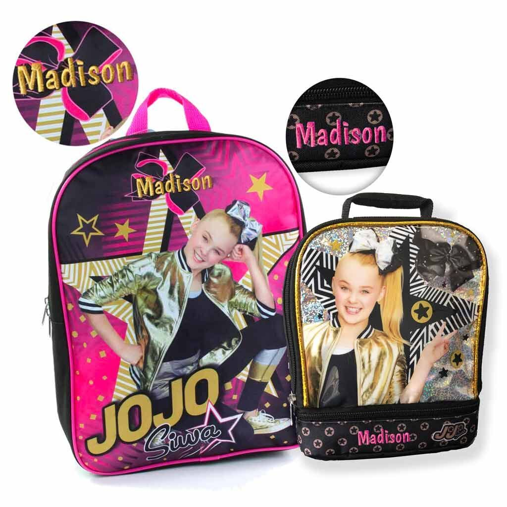 Personalized JoJo Siwa Backpack and Lunch Bag Combo