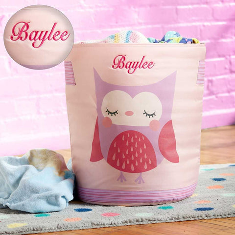 Personalized Dibsies Hamper and Storage Tote for Babies & Kids - Owl