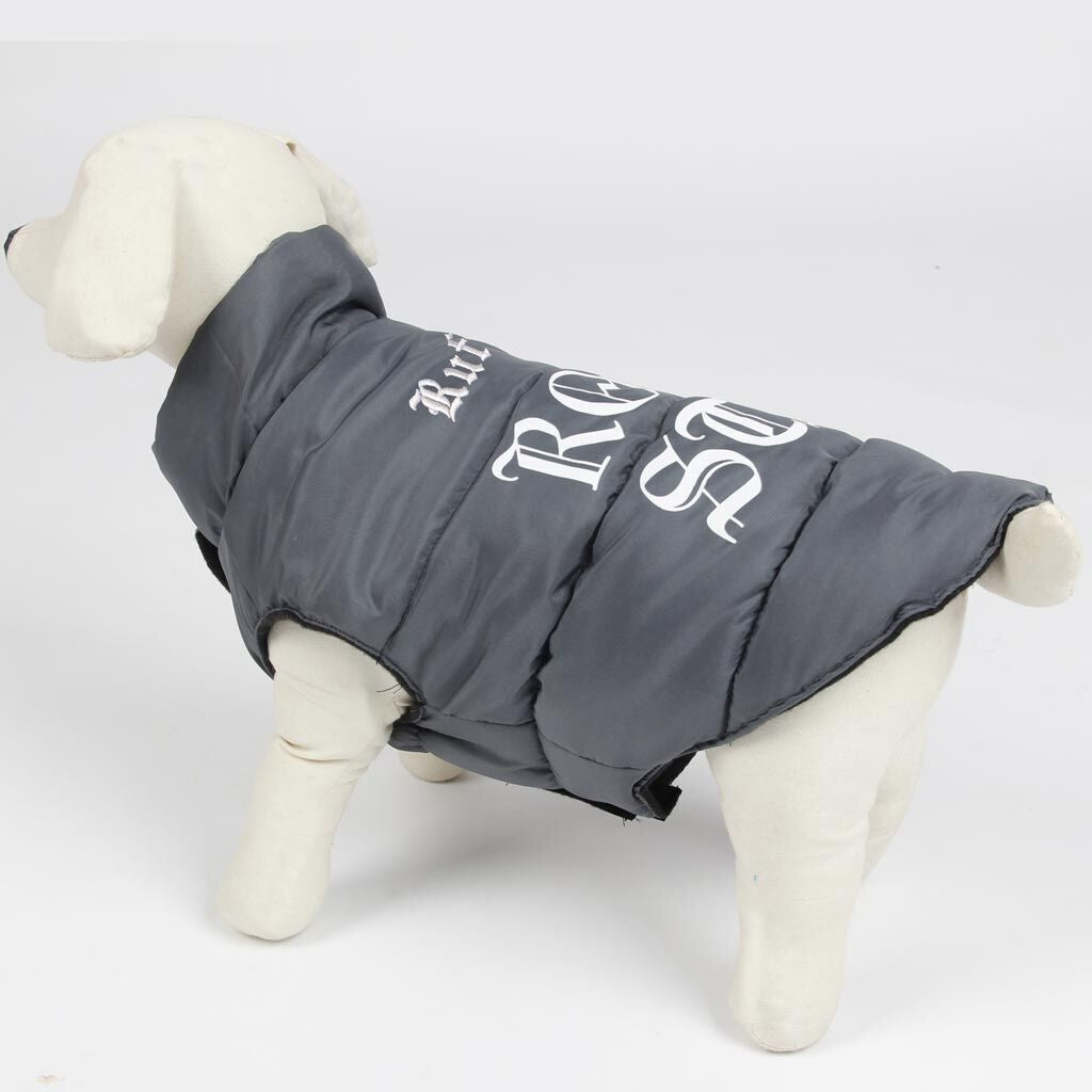 Personalized Rock Star Dog Puffer Coat - Extra Small