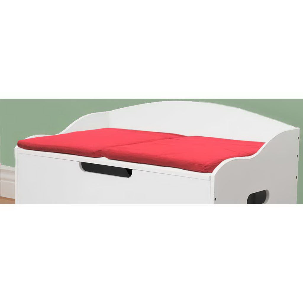 Foldable Toy Box Cushion -  Red