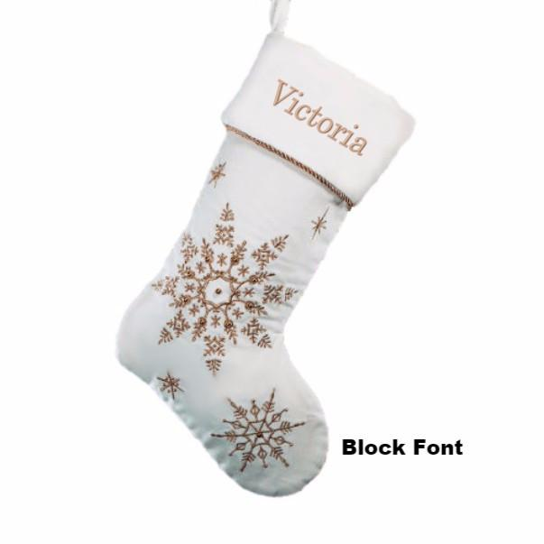Personalized Silver Sparkling Snowflakes Christmas ...