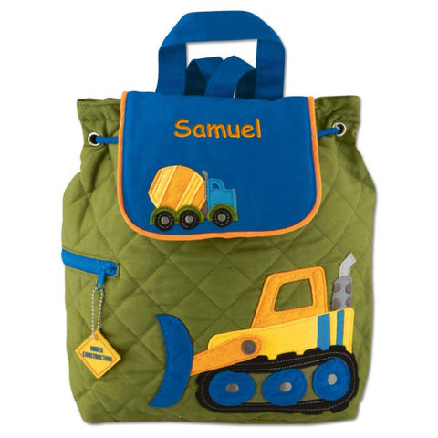 Personalized Construction Truck Embroidered Backpack