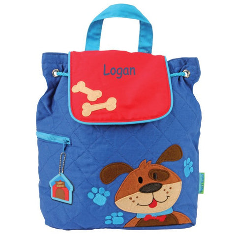 Personalized Puppy Embroidered Backpack