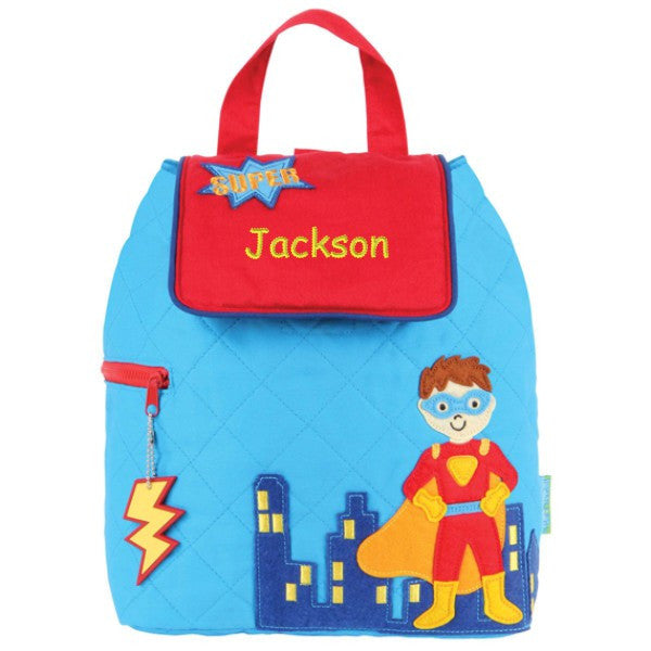 Personalized Super Hero Quilted Backpack