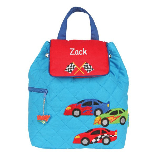 Personalized Flashy Racing Cars Embroidered Backpack