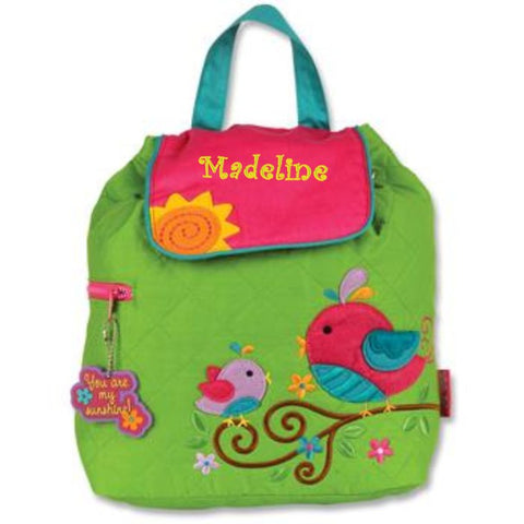 Personalized Singing Birds Quilted Backpack