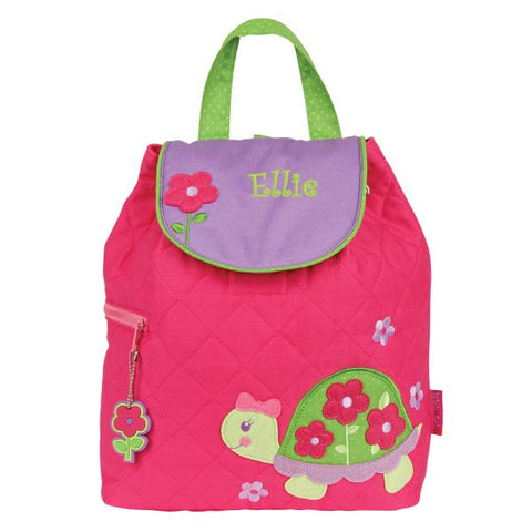 Personalized Pretty Turtle Embroidered Backpack