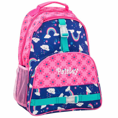 Personalized Rainbows & Flowers Trendsetter Backpack