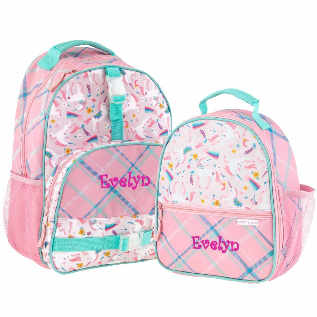 Personalized Unicorn Trendsetter Backpack & Lunchbox Combo