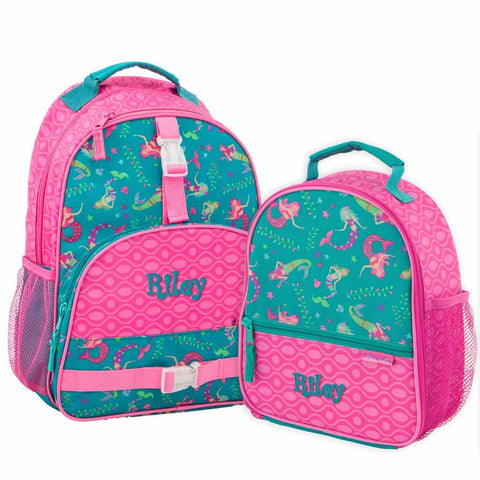 Personalized Mermaid Trendsetter Backpack & Lunchbox Combo