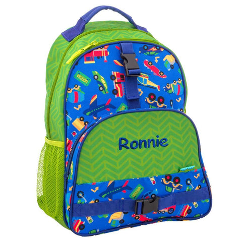 Personalized Cars, Trucks, Planes, & Trains Trendsetter Backpack