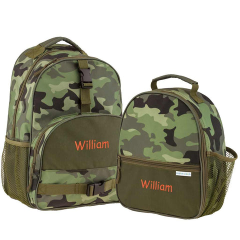 Personalized Camouflage Trendsetter Backpack & Lunchbox Combo