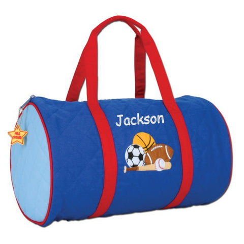 Personalized Quilted Sports Duffel Bag