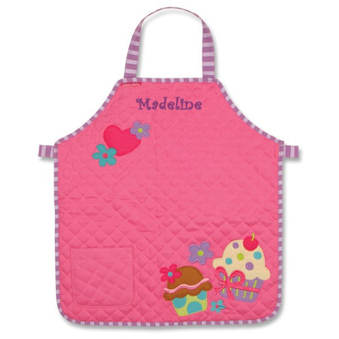 Personalized Sweet Cupcakes Quilted Kids Apron