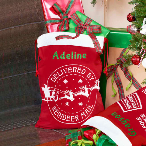 Personalized Santa Sack - Extra Large - Reindeer Mail