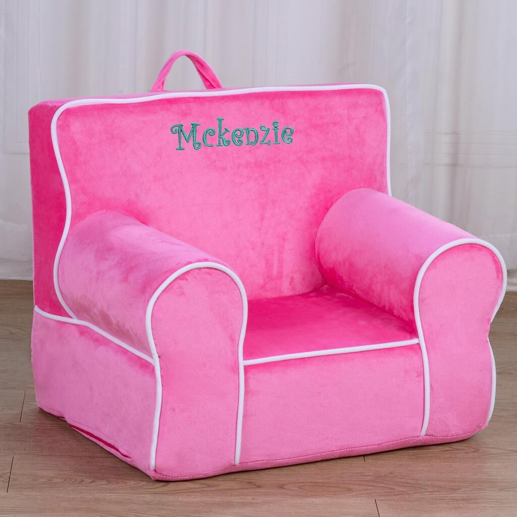 Personalized My Anytime Chair for Toddlers - Ages 1.5 to 4 Years Old - Princess Pink