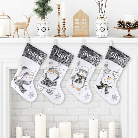 Personalized Silverscape Christmas Stocking