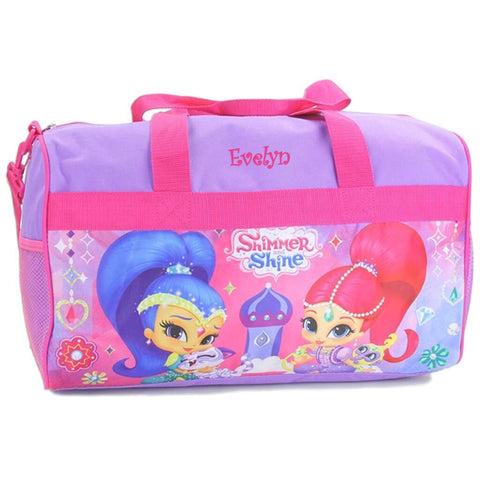 Personalized Shimmer & Shine Kids Travel Duffel Bag - 18