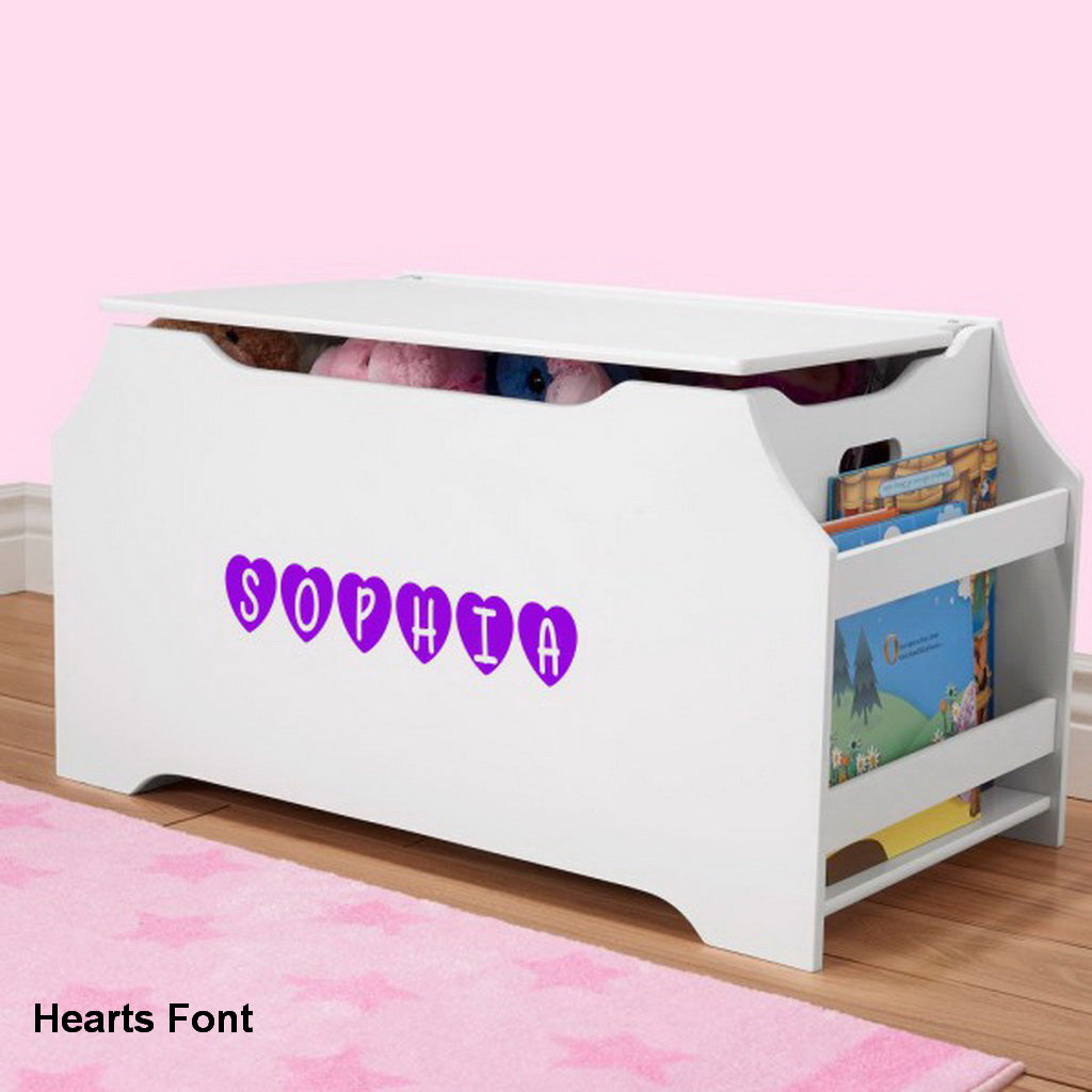 Storage Organizer Toy Box Disney Frozen Playroom Bedroom: Personalized Dibsies Kids Toy Box With Book Storage