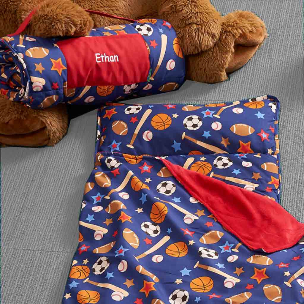 Personalized Toddler & Preschool Nap Mats - Sports