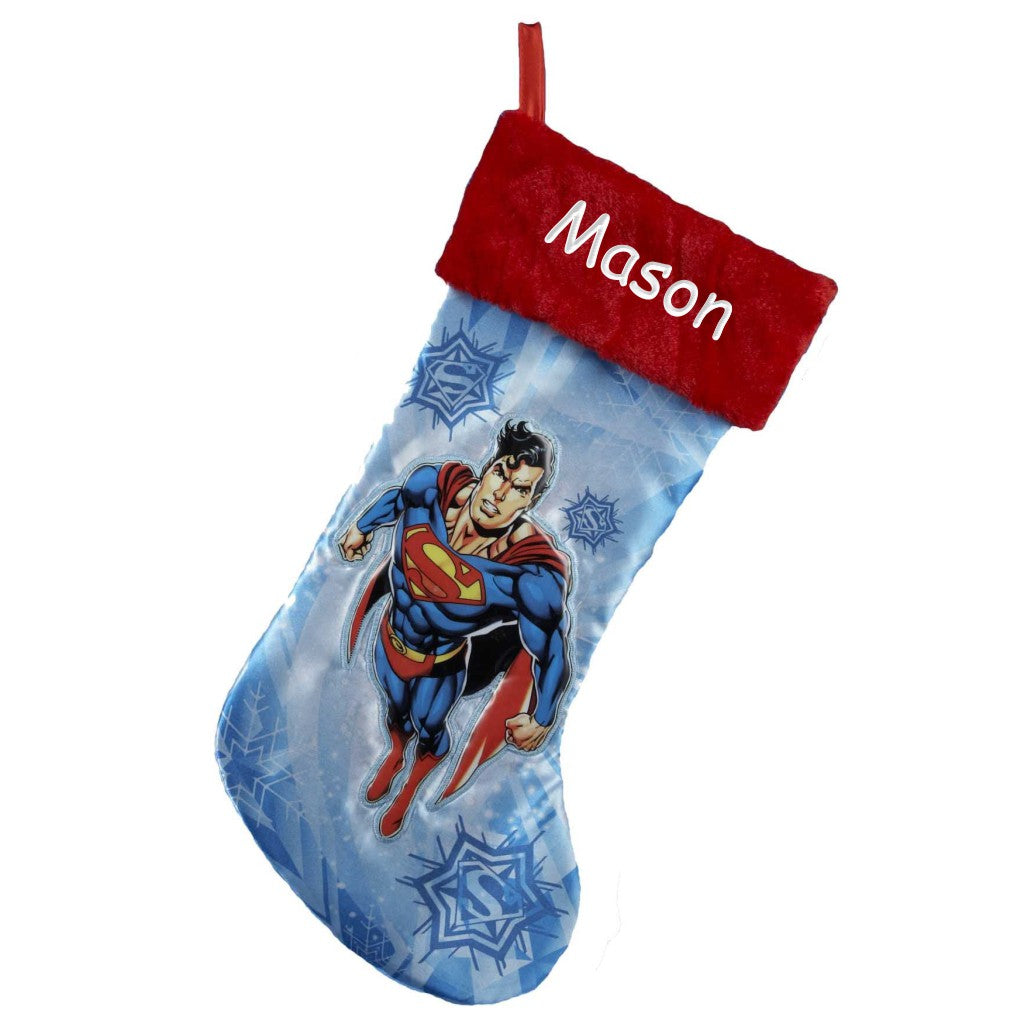 Personalized Superman Christmas Stocking
