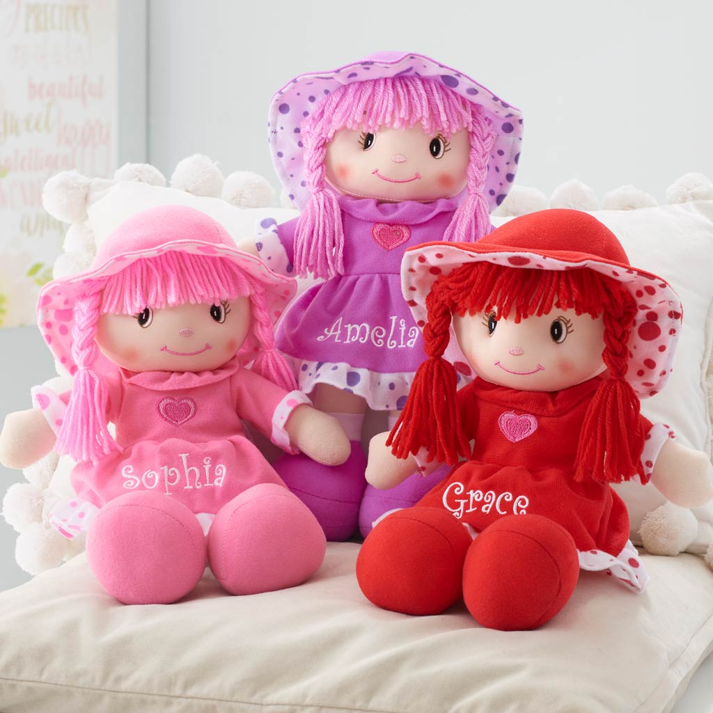 Personalized Sweetheart Cuddle Doll 14 Inch Dibsies