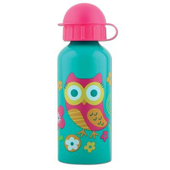 Classic Stainless Steel Kids Water Bottle - Teal Owl