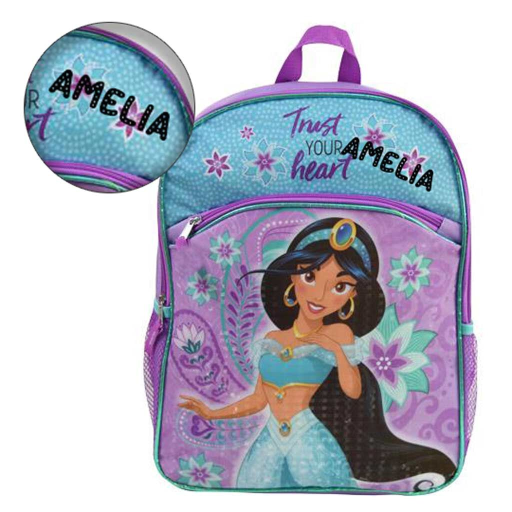 Personalized Aladdin Princess Jasmine Backpack - 16 Inch