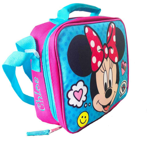 Personalized Minnie Mouse Emoji Lunch Box