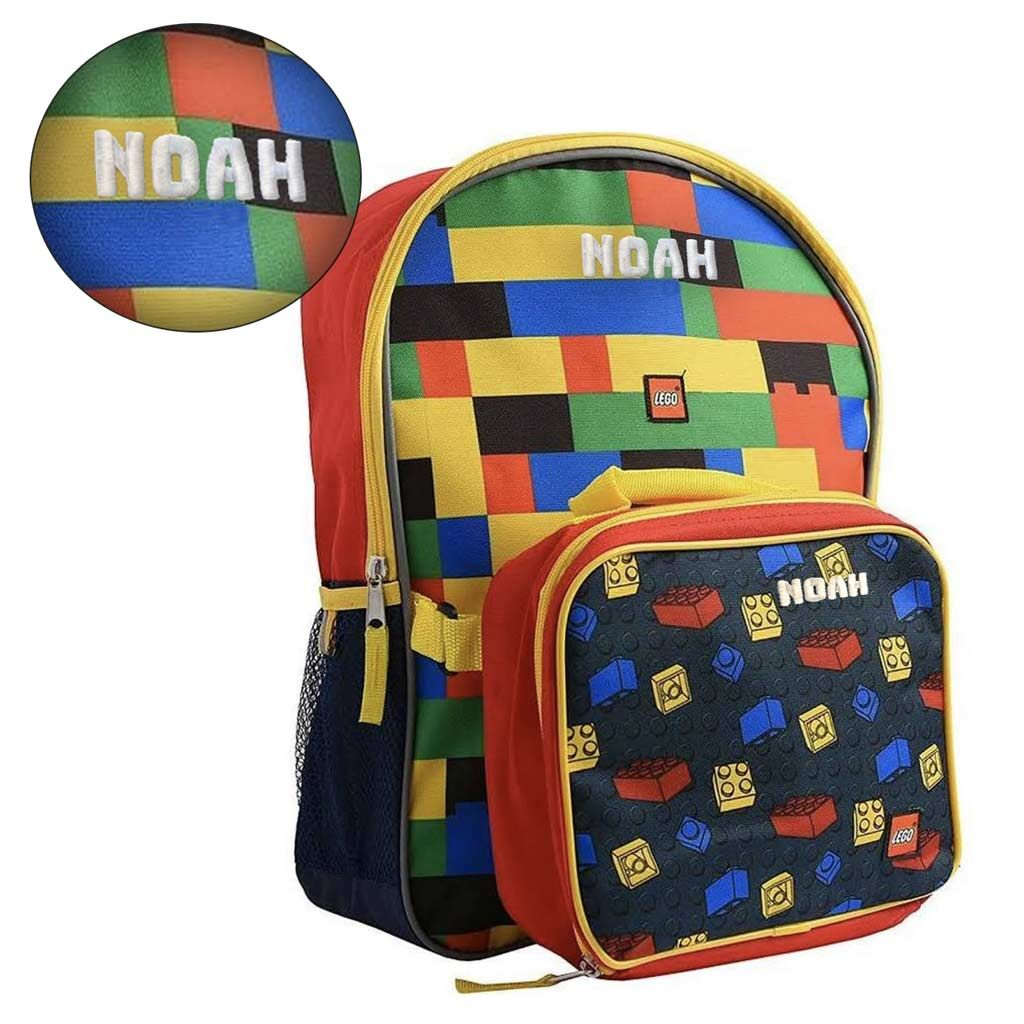 Personalized Lego Backpack and Lunch Box Combo