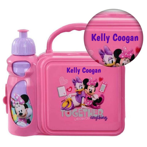 Personalized Minnie Mouse Lunch Kit with Water Bottle