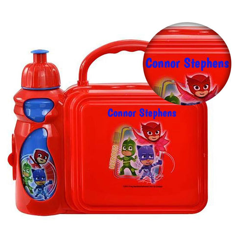 Personalized PJ Mask Lunch Kit with Water Bottle