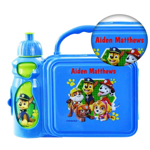 Personalized Paw Patrol Lunch Kit with Water Bottle