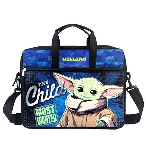 Personalized Baby Yoda Star Wars Mandalorian Tablet Case with Shoulder Strap