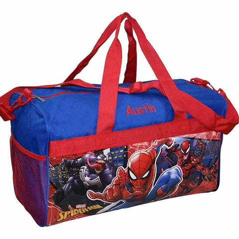 Personalized Spider Man Kids Travel Duffel Bag - 18