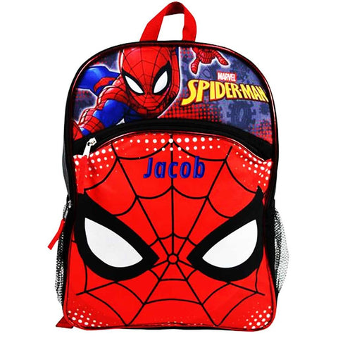Personalized Spiderman Eyes Backpack - 16
