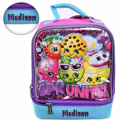 Personalized Shopkins Dual Compartment Lunch Box