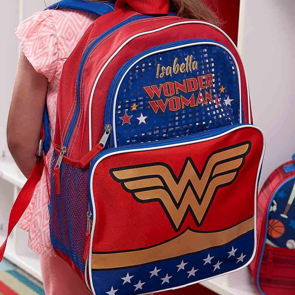 Personalized Wonder Woman Character Backpack - 16 Inch