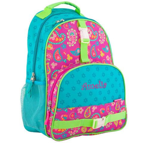 Personalized Paisley Hearts and Flowers Trendsetter Backpack