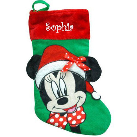 Personalized Disney's Minnie Mouse Christmas Stocking