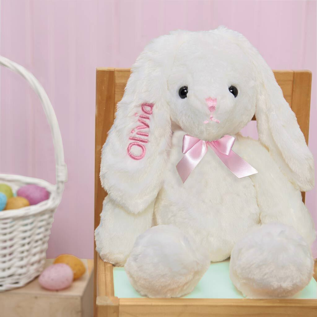 "Personalized Dibsies Hoppity Floppity Bunny 18"" - Pink"