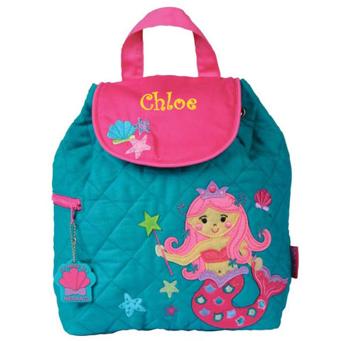 Personalized Mermaids Embroidered Backpack